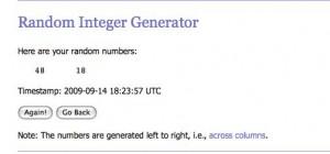 RANDOM.ORG - Integer Generator_1252952910707