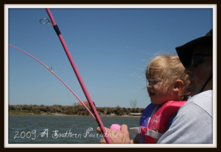 barbie fishing pole