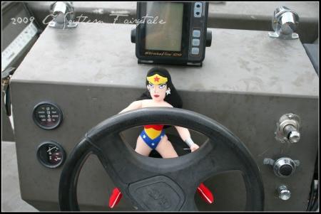 mona drives the boat