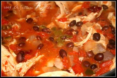 tortilla soup simmering