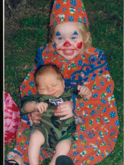 hunter and clown