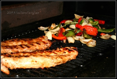 tenderloin and veggies on the grill