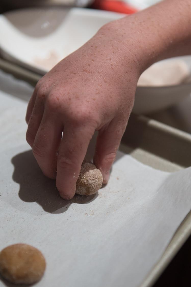 helping hands rolling snickerdoodles