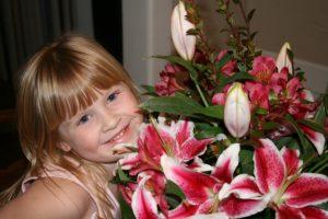 my favorite girl, my favorite flowers