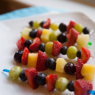 Fruit kabobs for Kids
