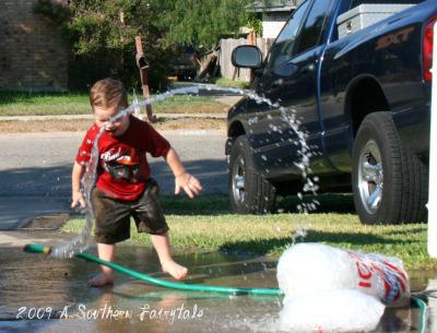 water hose fun