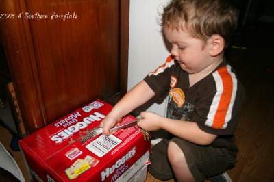 opening diapers