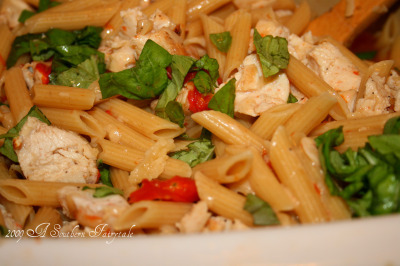 Penne Al Fresco With Grilled Chicken