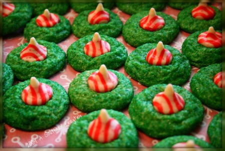 Candy Cane Kiss Cookies - A Southern Fairytale