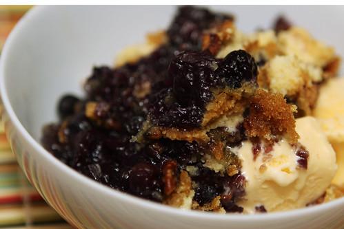 Blueberry Crisp Dump Cake