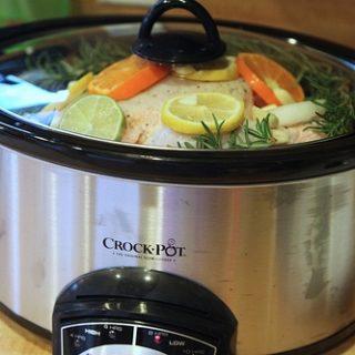 Rosemary Citrus Garlic Crockpot Chicken