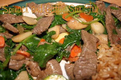 Spinach and Garlic Stir Fry