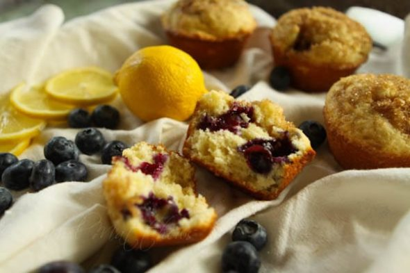 Blueberry Muffins with Lemon and Ricotta - A Southern Fairytale
