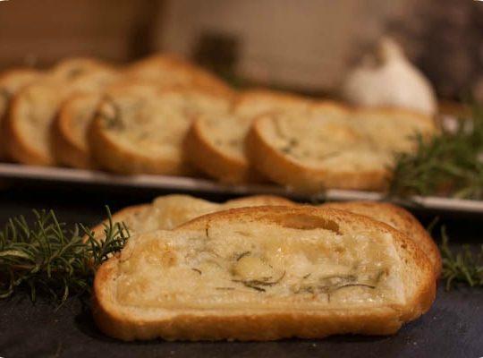 Garlic Cheese Bread with Fresh Rosemary