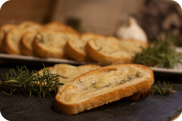 Garlic Cheese Bread with Fresh Rosemary
