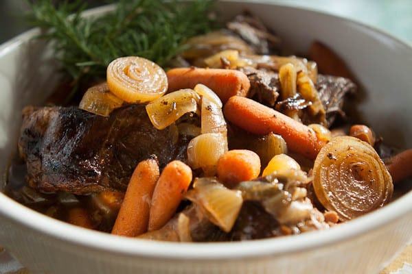 Slow Cooker Pot Roast with Balsamic Glaze