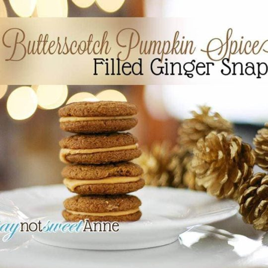 butterscotch gingersnap cookie sandwiches | asouthernfairytale.com