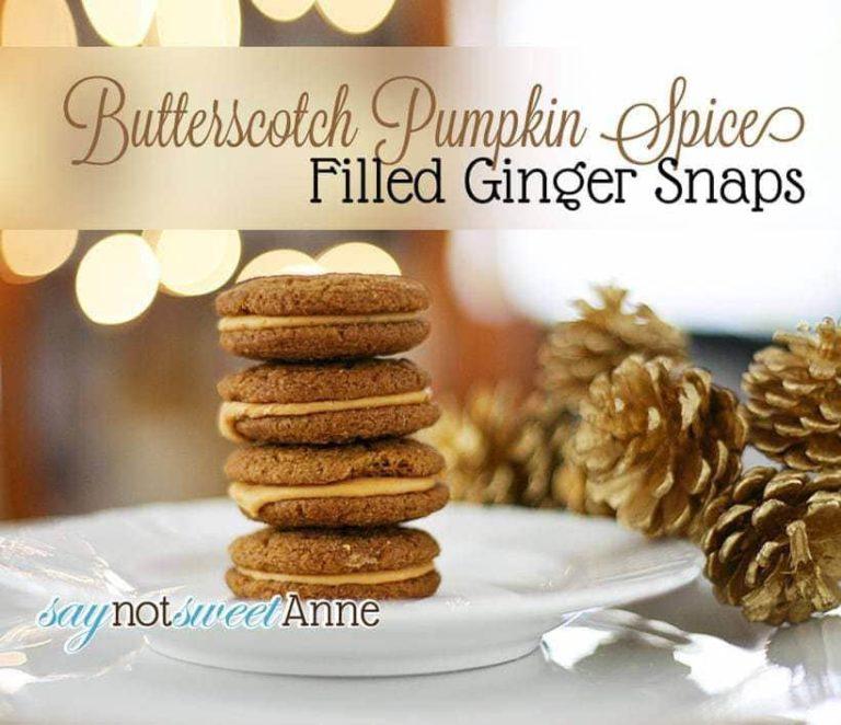 Butterscotch Pumpkin Spice Filled Ginger Snaps
