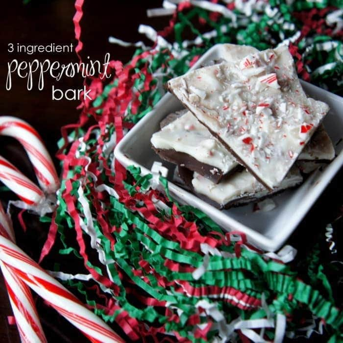 3 Ingredient Peppermint Bark