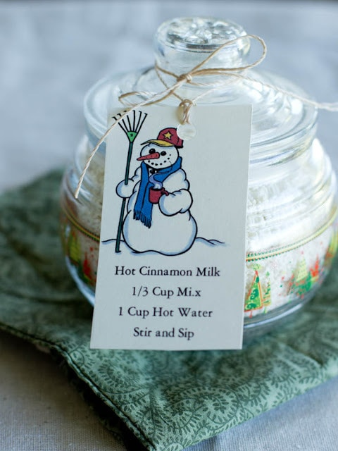 Snowman Milk for Holiday Gifts