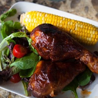 A Leap of Faith, BBQ Chicken Legs and Roasted Corn