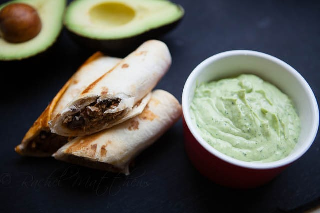 Cool Avocado Cream Dipping Sauce