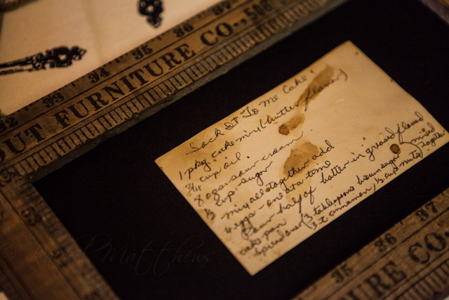 Granny's handwritten recipe card