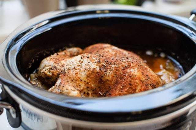 Easy and Delicious Keto Friendly Slow Cooker {Roasted} Chicken