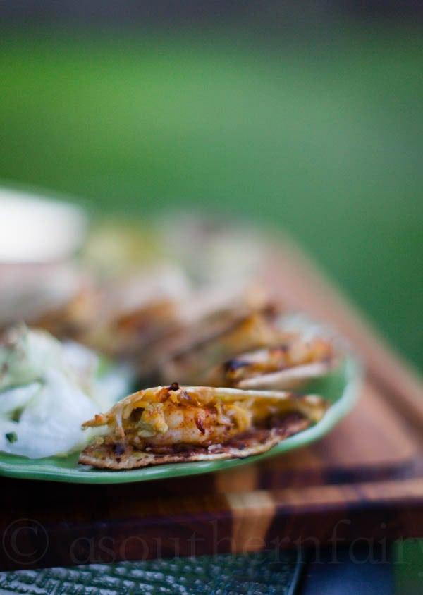 Smoky Shrimp Avocado Quesadilla