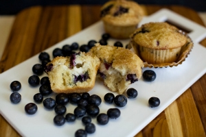 Bakery Style Blueberry Cheesecake Muffins