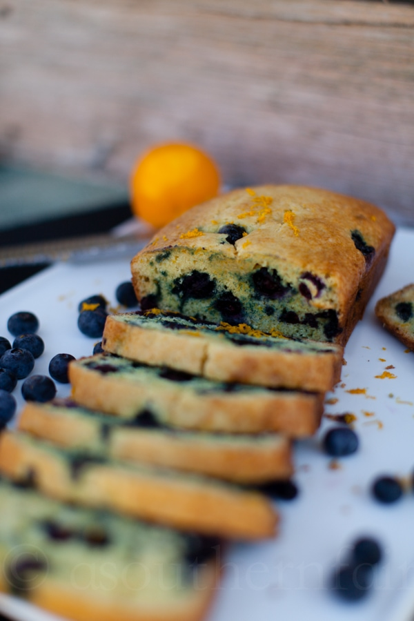 decided to make them a loaf of blueberry orange bread, it's a ...