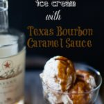 peach cobbler ice cream with bourbon caramel sauce