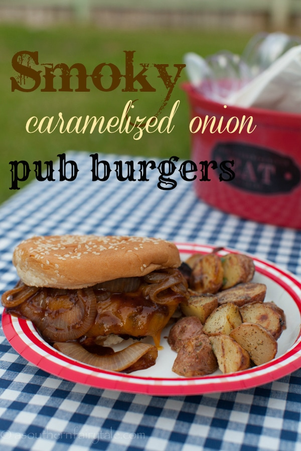 Smoky Caramelized Onion Pub Burgers