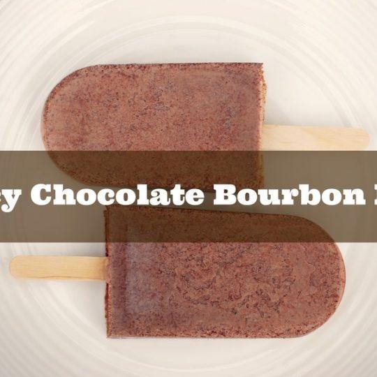 spicy chocolate bourbon pops