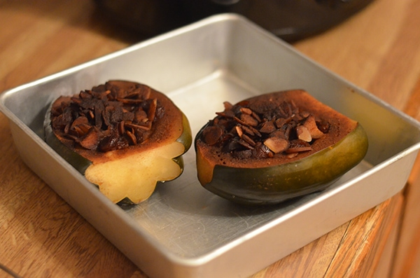 apple baked acorn squash