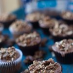 bourbon glazed pecan topped cupcakes
