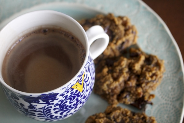 Paleo and Gluten Free Pumpkin Chocolate Chip Cookies and Hot Cocoa