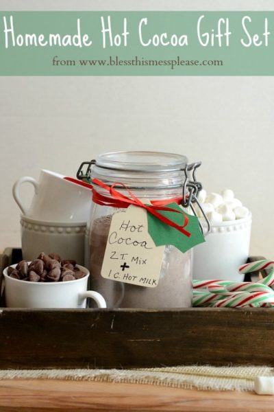 homemade hot cocoa gift set