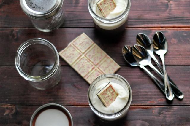 Flourless Peppermint Mocha Cake in Jars