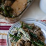 panko topped green bean casserole