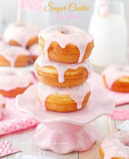 sugar cookie doughnuts