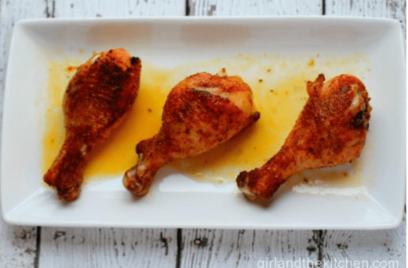 Wine Roasted Chicken Thighs: Girl and The Kitchen