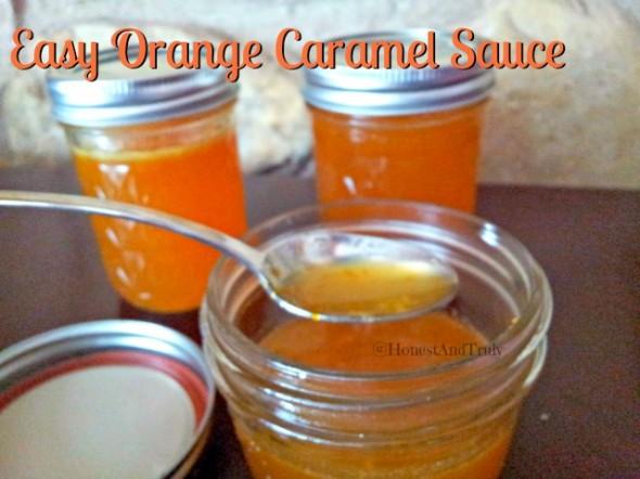orange caramel sauce