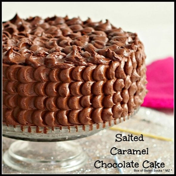 Salted Caramel Chocolate Cake: Box of STolen Socks