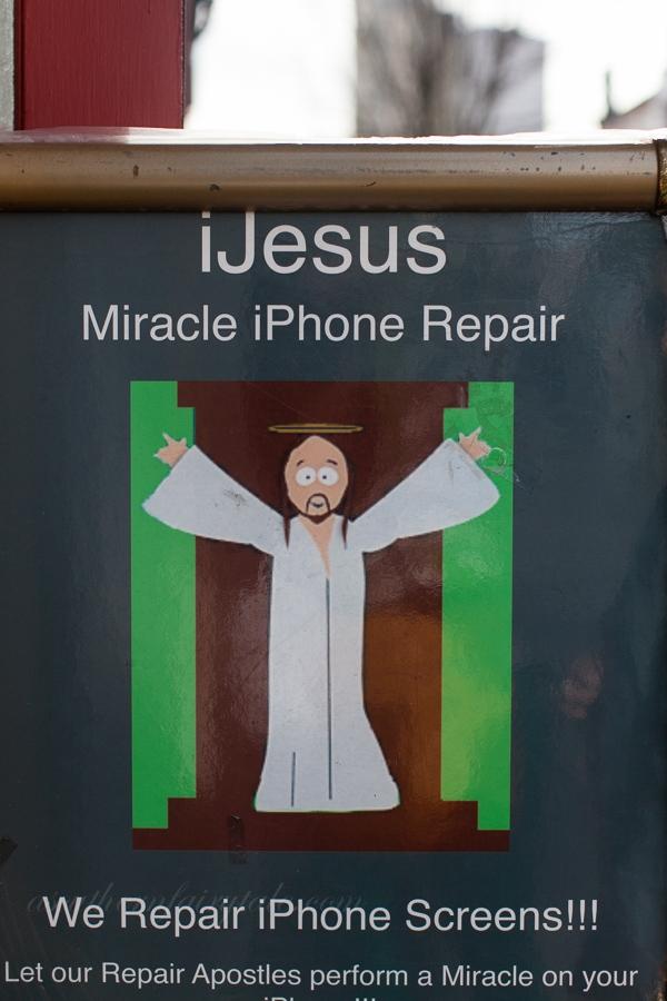 ijesus phone repair sign