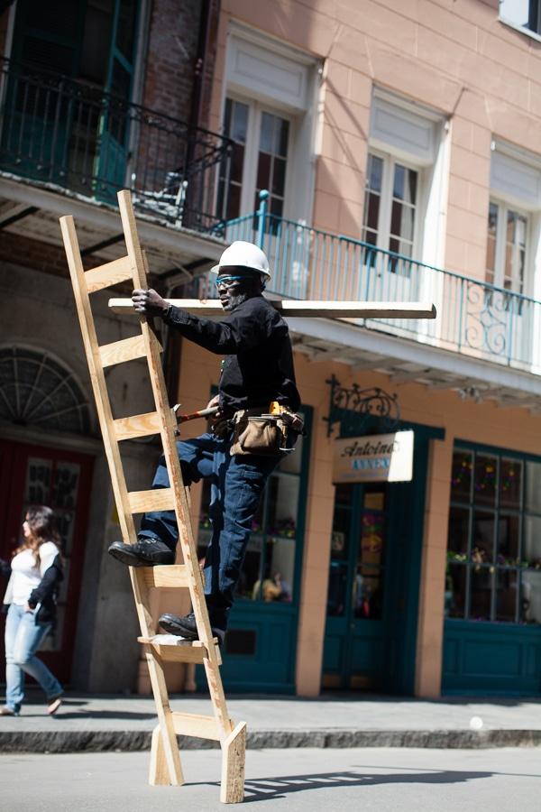 ladder acrobatics