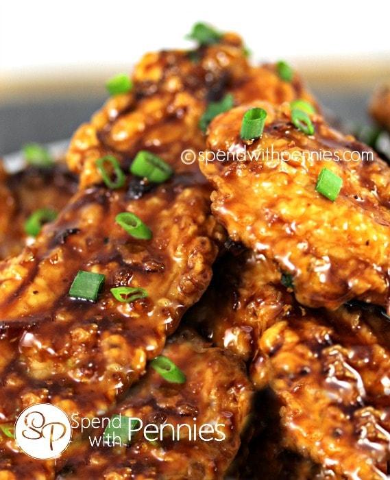 Honey Crunch Garlic Chicken Tenders | Spend with Pennies