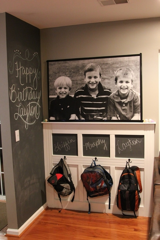 backpack wall on scattershot blog