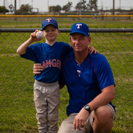 Game Ball for the Rangers vs Cubs Katy American Game