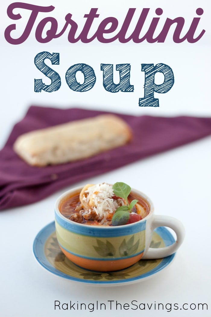 Tortellini Soup   Raking in The Savings